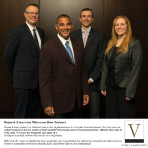 Verjee & Associates Law Welcomes New Partners Peter Cline and Megan Klein